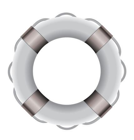 White Life buoy Stock Vector - 15612484