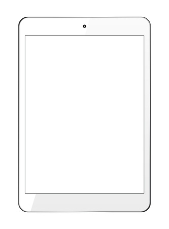 White Tablet PC Stock Vector - 16627383