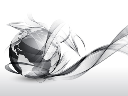Globe and smoke Vector