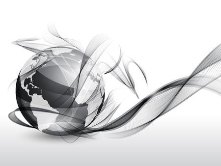 transparent globe: Globe and smoke