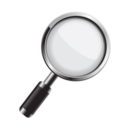 optical glass: Magnifying glass Illustration