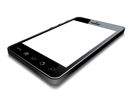 touch screen phone: Realistic mobile phone