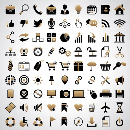 81 icons. Stock Vector - 17311944