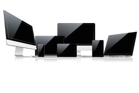 monitor de computadora: Dispositivo de juego Vectores