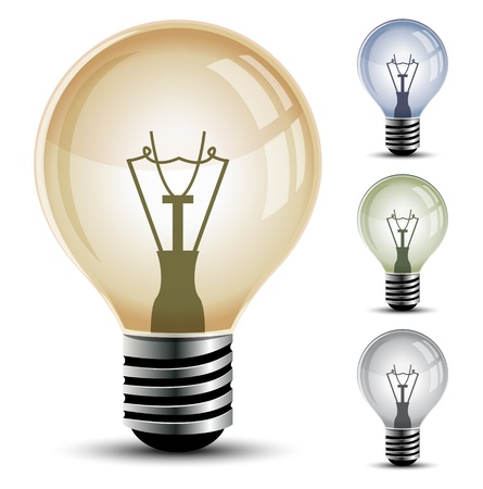 metal light bulb icon: Light bulb