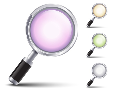 glass office: Magnifying glass Illustration