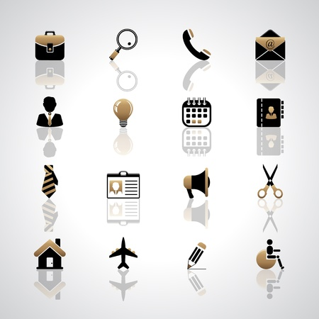 Business icons Stock Vector - 17553634