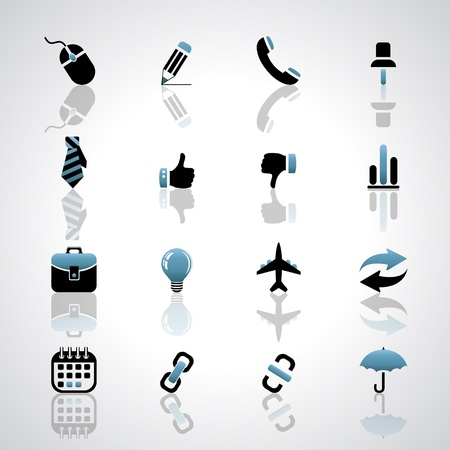 Business icons Stock Vector - 17553617