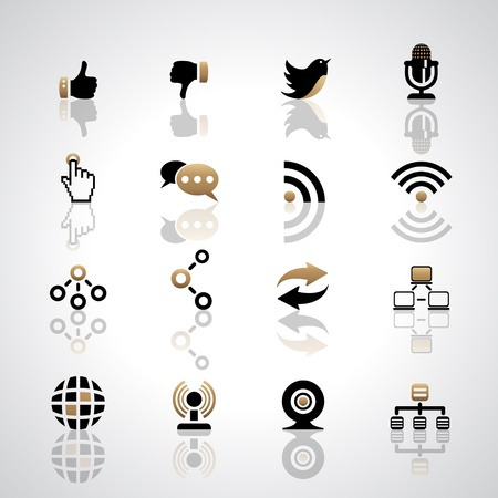 technology chat: Communication icons Illustration