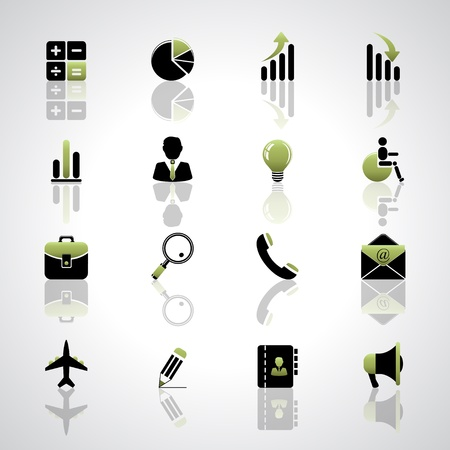 Finance and business icons set Stock Vector - 17553625