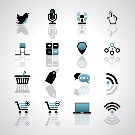 icons site search: Internet-business icons Illustration