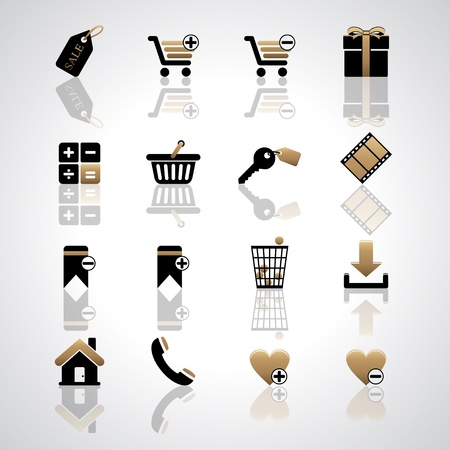 Shopping icons Stock Vector - 17553659
