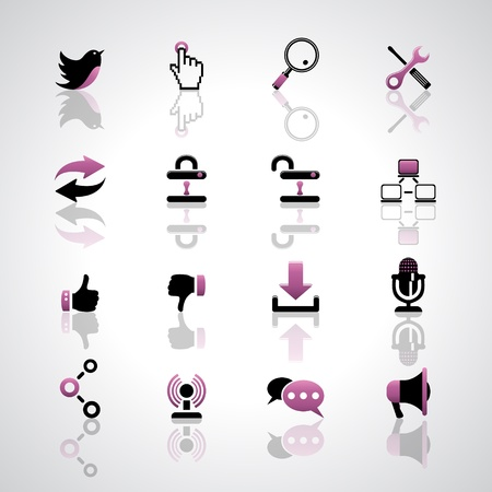 Communication icons Stock Vector - 17553658