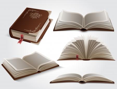 libros abiertos: Libros Vectores