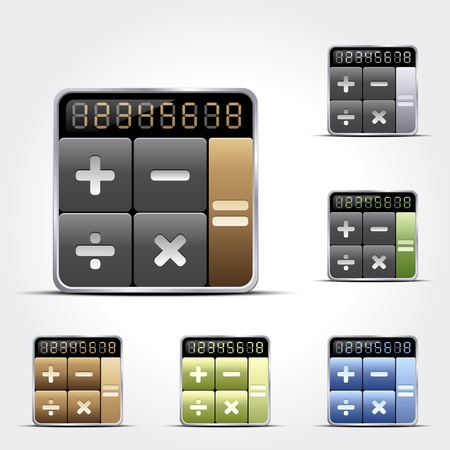 calculations: Calculator icons Illustration