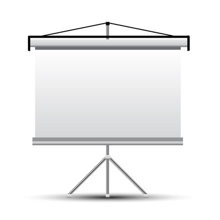 projector screen: Schermo del proiettore Vettoriali