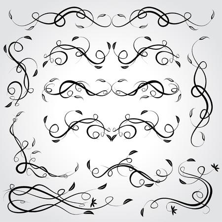 ornamental scroll: Floral design elements