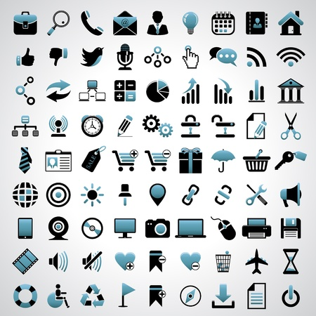 Icons set. Stock Vector - 17921972