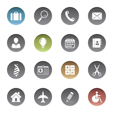Business icons Stock Vector - 17921966