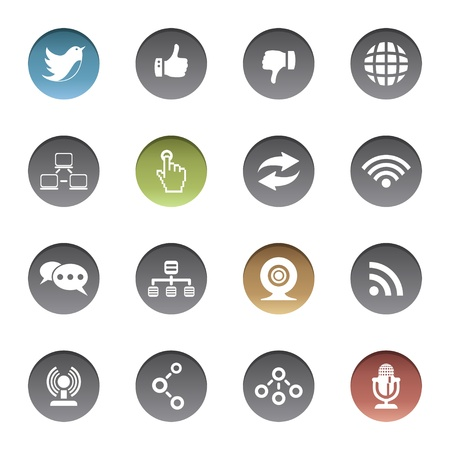 Communication icons Stock Vector - 17921975