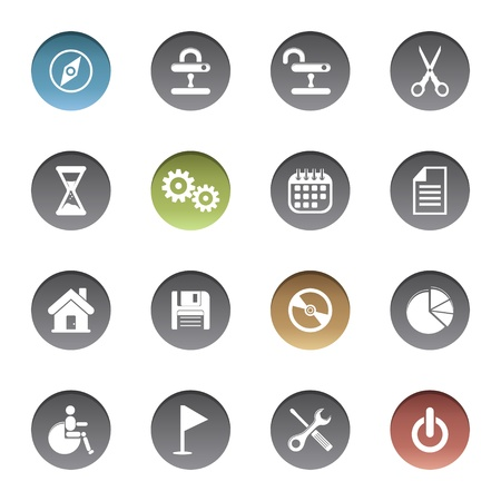 Icons set Stock Vector - 17921964