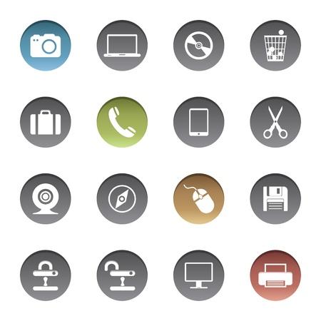 brief case: Internet icons