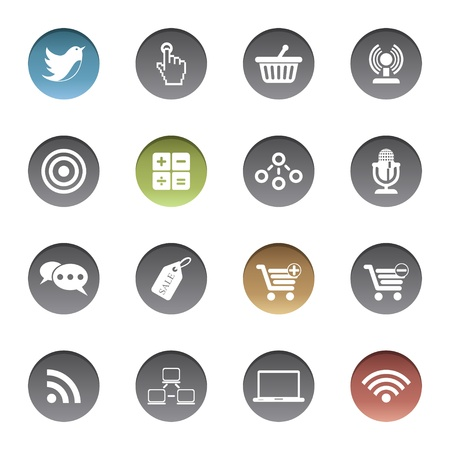 Internet-business icons Stock Vector - 17921969
