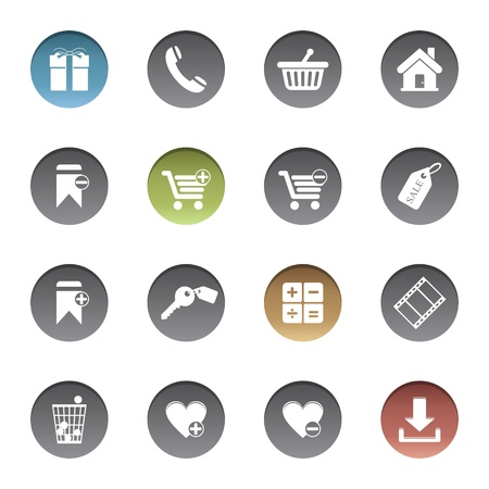 Shopping icons Stock Vector - 17921970