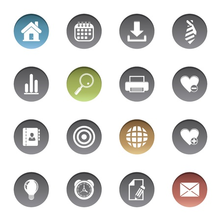 Web icons Stock Vector - 17921971