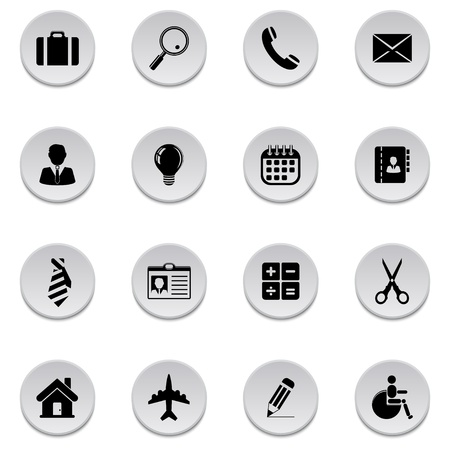 Business icons Stock Vector - 17922033