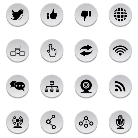 Communication icons Stock Vector - 17921999