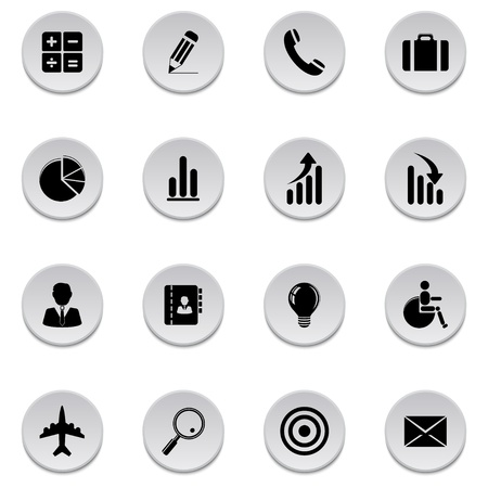 Finance and business icons Stock Vector - 17921997