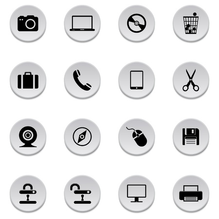 Internet icons Stock Vector - 17922035