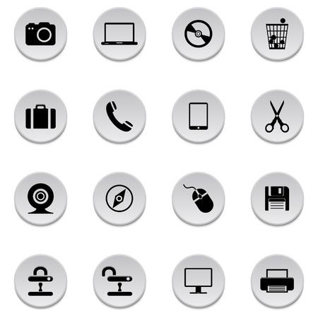 Internet icons Stock Vector - 17922035