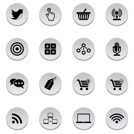 chat online: Internet-business icons Illustration