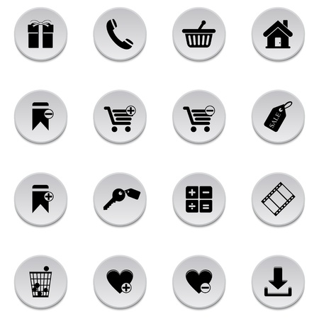 Shopping icons Stock Vector - 17922011
