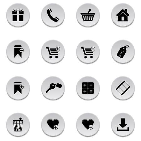 Shopping icons Stock Vector - 17922011
