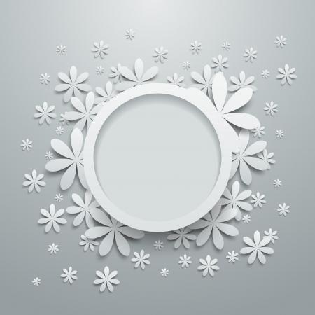 borde de flores: Bocadillo con flores de papel