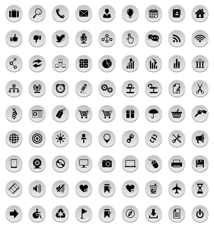 Icons set Illustration