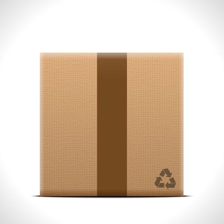 Cardboard box Stock Vector - 18721554