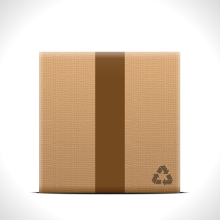 stockpile: Cardboard box Illustration
