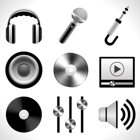 music loudspeaker: Music icons