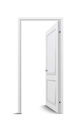 room door: Open door Illustration