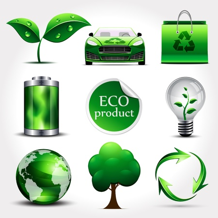 batteries: Ecology icons