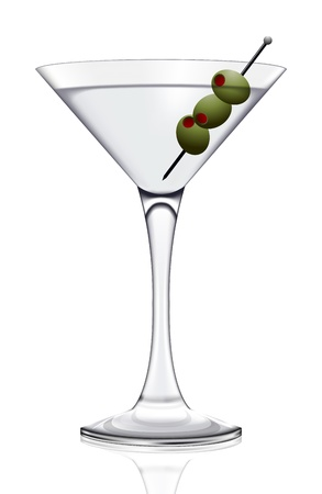 shaken: Martini glass