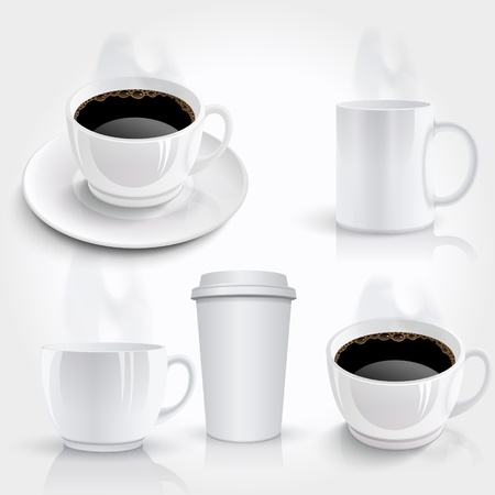 Set of coffee cups Stock Vector - 19694581