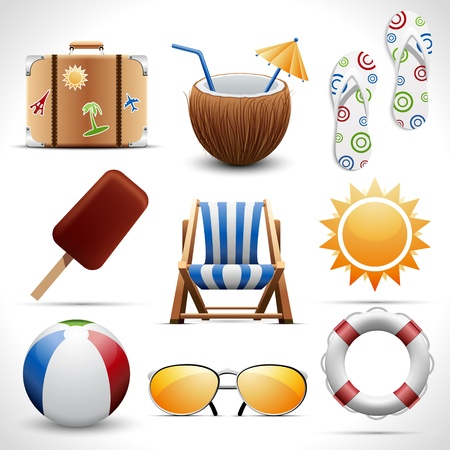 Summer icons Stock Vector - 19694586