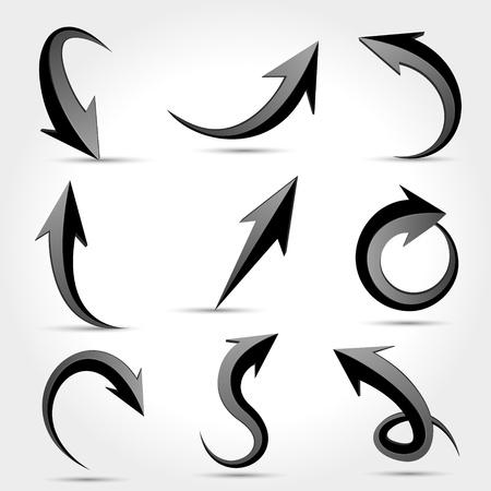 Vector black arrows Vector