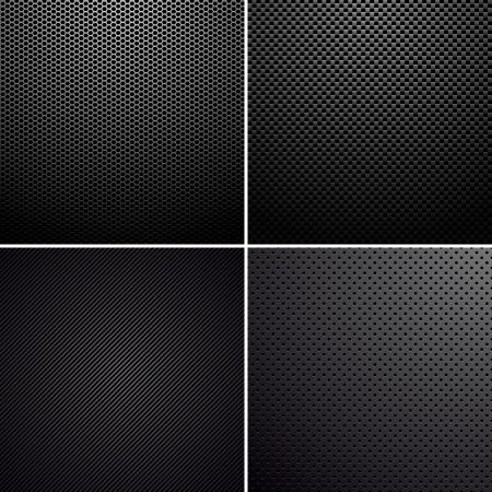 Metaal-carbon texturen