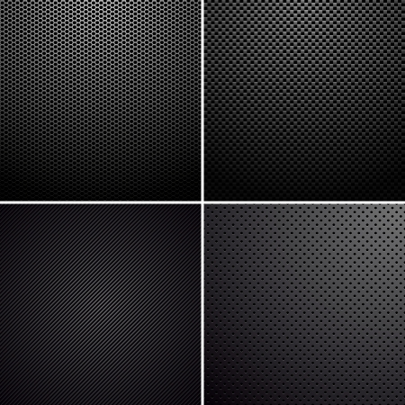 Metal-carbon textures Stock Vector - 22173666